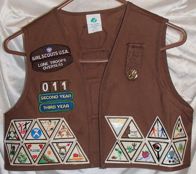 Girl Scout Brownie Vest Patch Placement