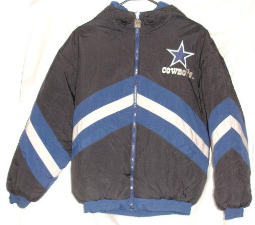 Dallas Cowboys Reversible Winter Jacket/Coat Hooded Sewn