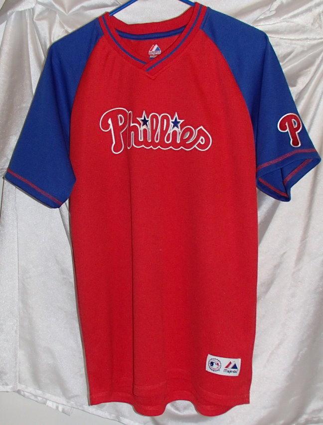 Philadelphia phillies majestic red baseball jersey shirt